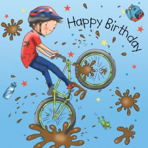 TW667 - Boys Birthday Card Bike